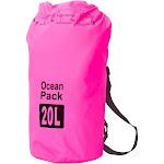 Zodaca Durable Waterproof Outdoor Adventure Storage Dry Tube Bag Backpack for Kayaking Boating Floating Swimming Camping Sports - Pink