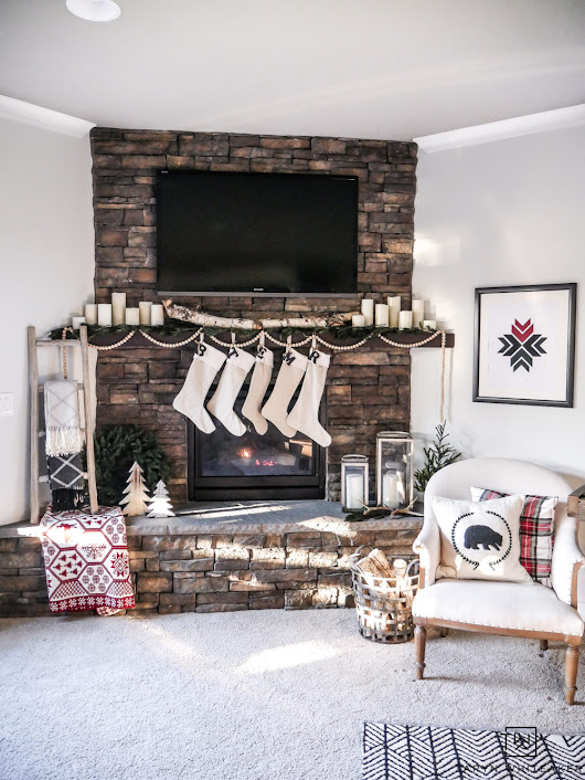 Scandinavian Inspired Christmas Mantel - Taryn Whiteaker