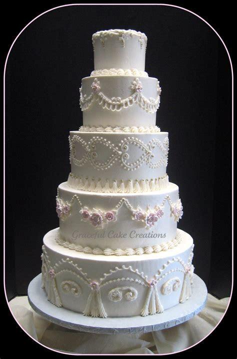 Elegant white wedding cake ~ 5 tier wedding cake   Wedding