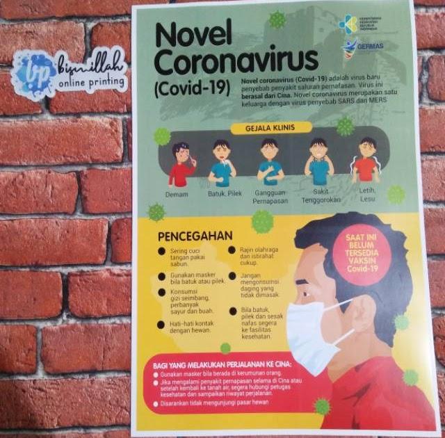 Contoh Poster Pencegahan Covid 19 Yg Mudah Digambar ...