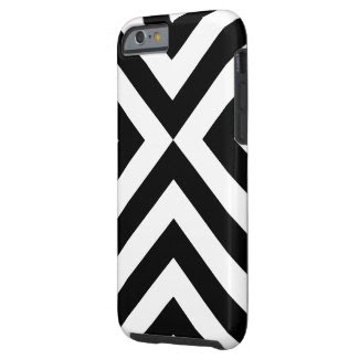 Black and White Chevrons iPhone 6 Plus Tough Case Tough iPhone 6 Plus Case