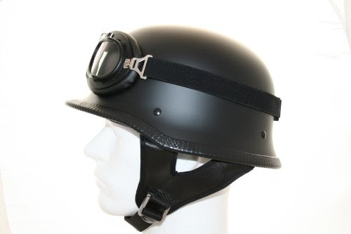 helme de motorradhelm im wehrmacht style mit brille gr e m. Black Bedroom Furniture Sets. Home Design Ideas