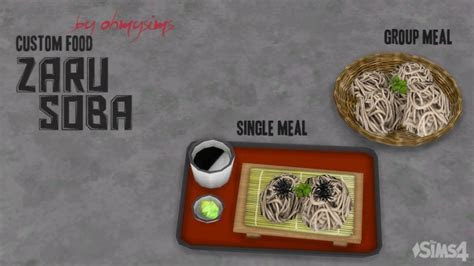 Zaru Soba by ohmysims at Mod The Sims » Sims 4 Updates
