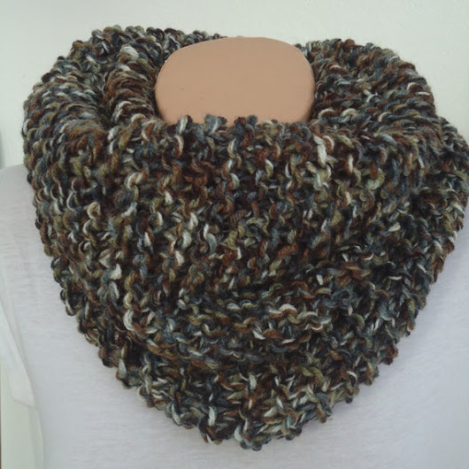 SALE chunky knit scarf / knitted scarf/tweet brown by AYTULGIFT