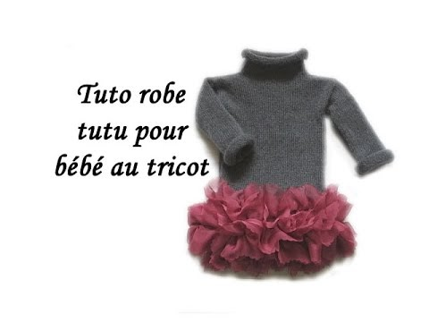 les tutos de fadinou tuto robe bebe a froufrou au tricot. Black Bedroom Furniture Sets. Home Design Ideas