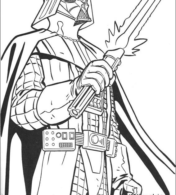 Coloriage204: coloriage de star wars à imprimer
