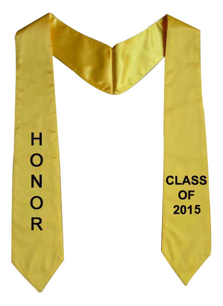 Graduation Stoles, Two Side Embroidery