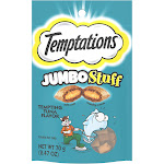 Temptations Jumbo Stuff Tempting Tuna Flavor Crunchy and Soft Cat Treats, 2.5 oz., 2.47 OZ