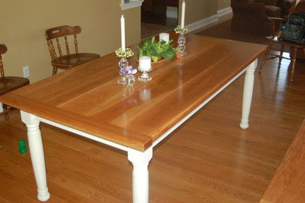 kitchen table and bench - by DuaneEDMD @ LumberJocks.com ...