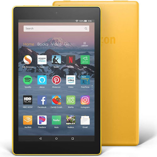 """Amazon Fire HD 8 - Wi-Fi - 16 GB - Canary yellow - with Special Offers - 8"""""""