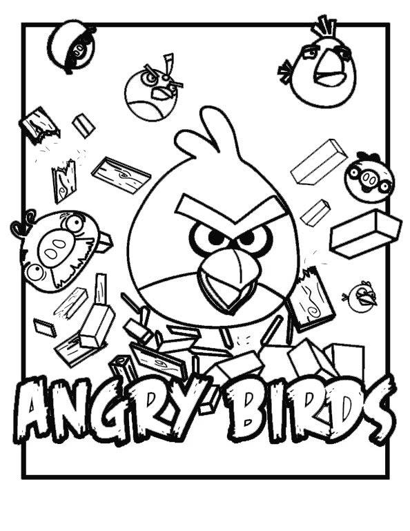 Bilder zum ausmalen Angry Birds 4  Bilder zum Ausmalen