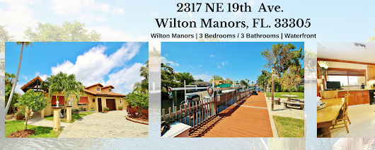 FOR SALE: WILTON MANORS, 3 BEDROOMS / 3 BATHROOMS, WATERFRONT HOME