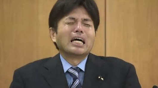 Video of Japanese Politician Crying over Allege Misuse of Public Funds goes Viral