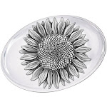 Sunflower Pewter Accent Glass Paperweight