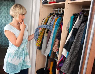 Work Fashion Tips - Woman in Front of Closet