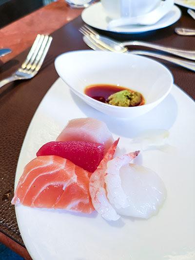 Clipper Lounge Mandarin Oriental Hong Kong Sunday Brunch Sashimi