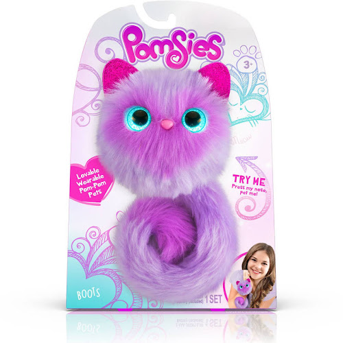 Pomsies Boots Plush Interactive Toy - Purple