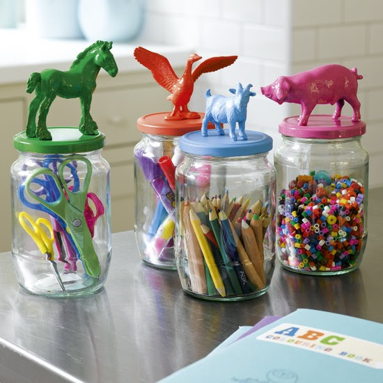 Organise a crafts cupboard with glass jars | 10 best kids' playroom storage ideas | childrens room ideas | design inspiration | housetohome