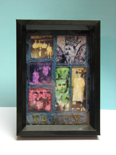 Family - Stamped Memory Glass Collage 001