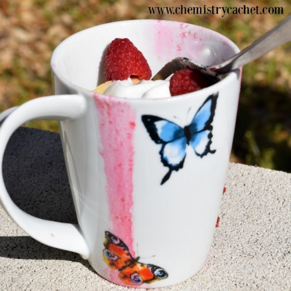 Chemistry Cachet-Light & Refreshing Raspberry Muffin in a Mug