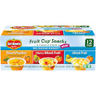 (12 Cups) Del Monte Fruit Cup Snacks No Sugar Added Variety Pack 4 oz Cups