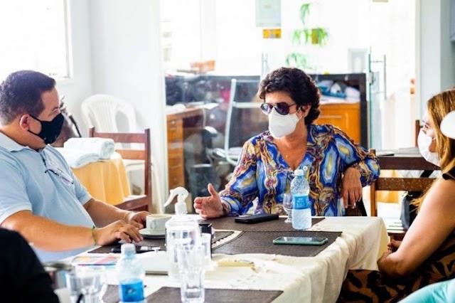 Guamaré: Prefeito se reúne com secretária de turismo do estado para fomentar o turístico do munícipio