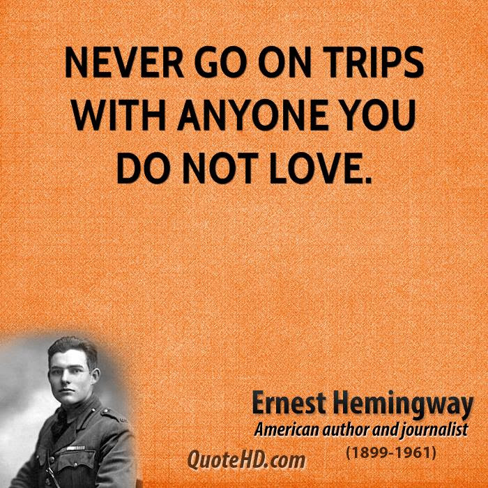 Ernest Hemingway Travel Quotes Quotehd