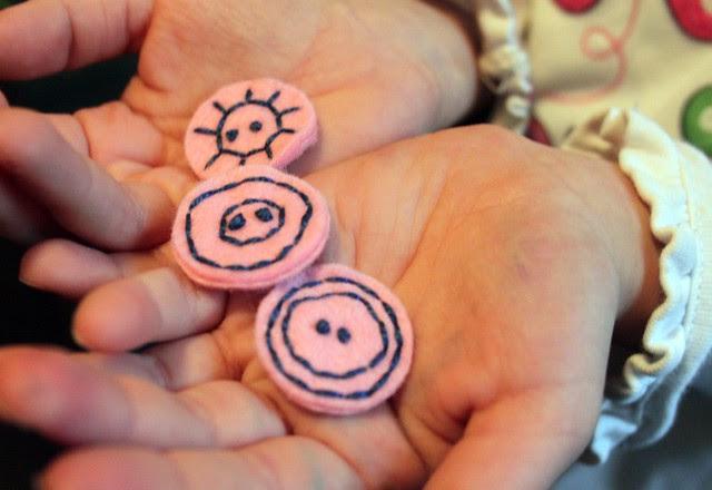 Felt Stitched Buttons