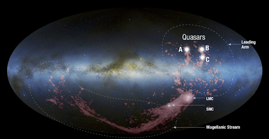 Astronomers confirm source of galaxy-sized stream of gas | EarthSky.org
