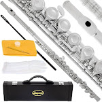 Lazarro 120-NK Professional C Flute Silver Nickel Closed Hole for Band, Orchestra,