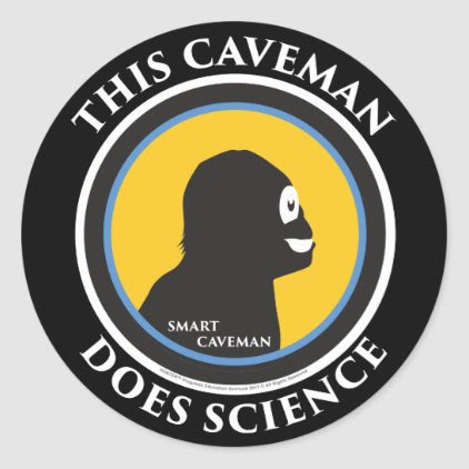 Smart Caveman: Do Science Save Mankind Stickers