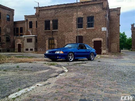 blue ford mustang foxbody ccw sp forged wheels ccw