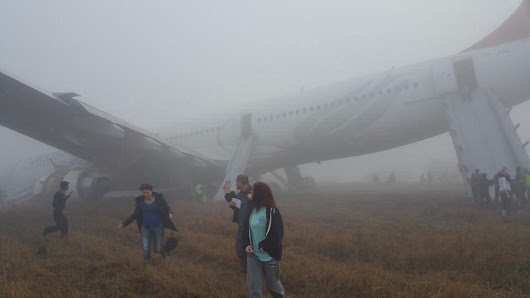 "Roeland Roovers on Twitter: ""Crash landed Turkish Airlines #TK726 at #Kathmandu airport in #Nepal, flying in from #Istanbul Turkey in the fog """