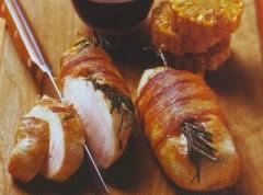 petti di pollo con pancetta e rosmarino,petto di pollo,rosmarino,ricette di carne,carne,ricette di cucina,