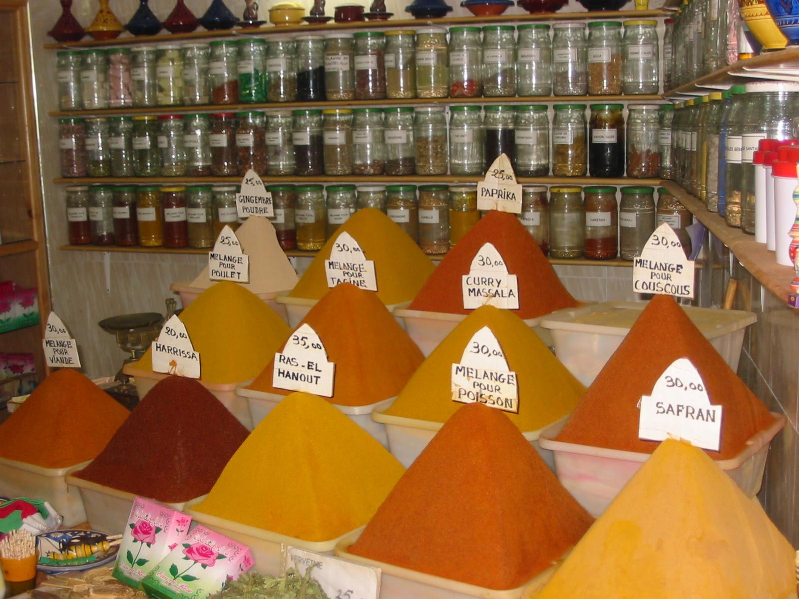 spice, market, Morocco