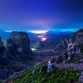 Meteora at night by George Koultouridis (seven-hundredth) on 500px.com