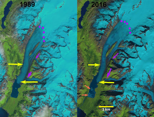 Ellsworth Glacier Retreat & Lake Expansion, Alaska - From a Glacier's Perspective