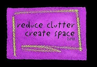 Reduce Clutter; Create Space purple