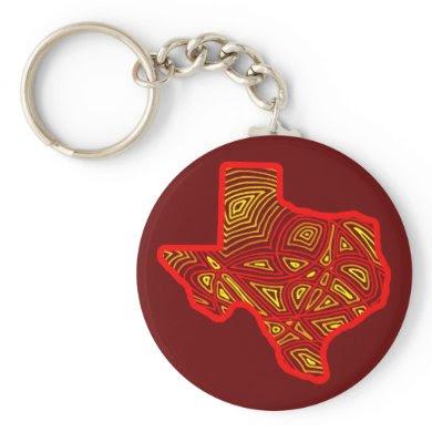 Texas Scribbleprint keychain