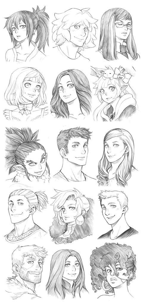headshot commissions sketch dump   runshin
