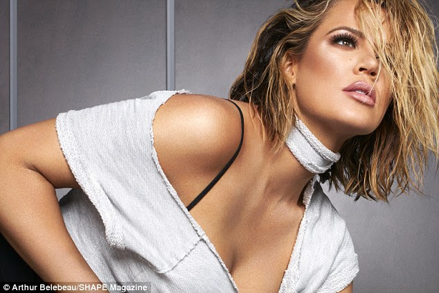 Looking good: Working up a sweat rids the reality star of emotional stress, she said