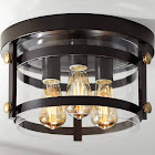 "Eagleton 13 1/2"" Wide Oil-Rubbed Bronze LED Ceiling Light"