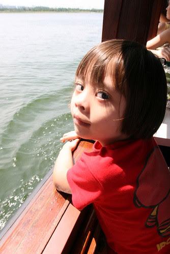 Nadine loved being on water