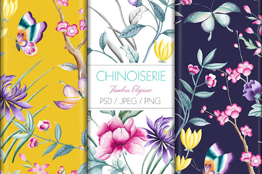 Chinoiserie ~ Patterns on Creative Market