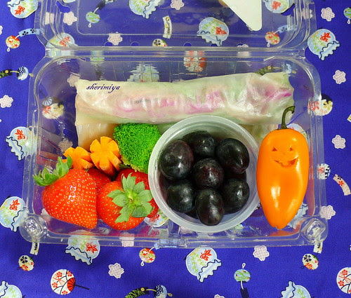 Jack-o-pepper Field Trip Bento by sherimiya ♥