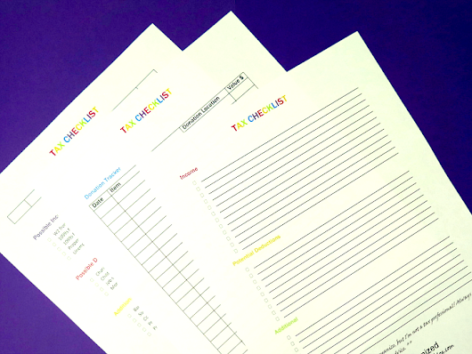 My Favorite Tax Organization Tips + Printable Checklist – Crazy Organized