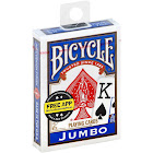 Bicycle Poker Size Jumbo Index Playing Cards - Color Varies