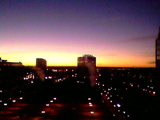Sunrise view from the Hilton