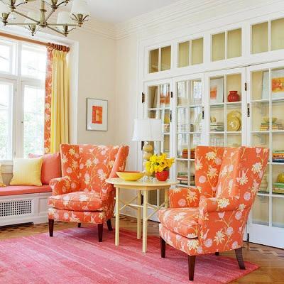 Quintal Di Casa: Usando a cor laranja na sua casa