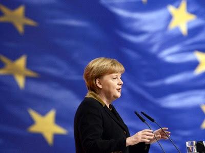 Angela Merkel en su discurso durante el congreso de la CDU.